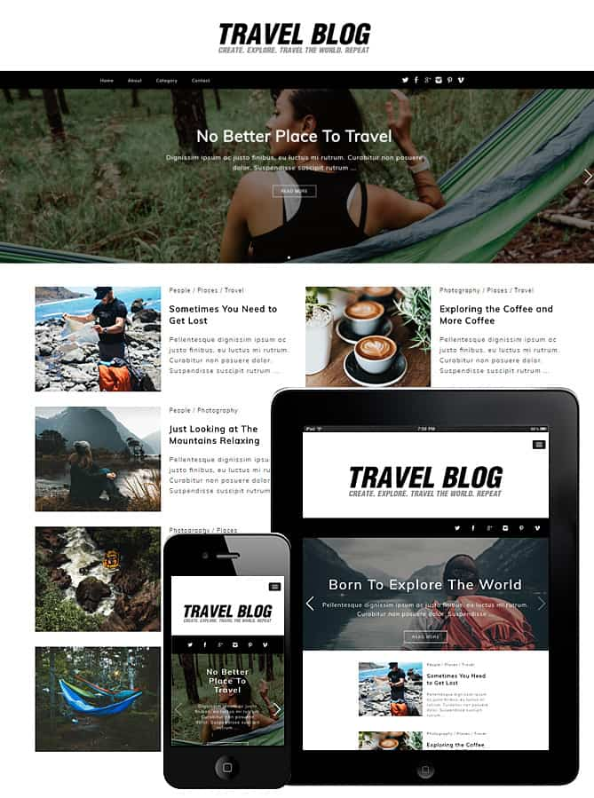 Best Free WordPress Themes  For Travel Blogs