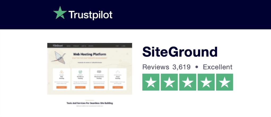 trustpilot siteground reviews 2020