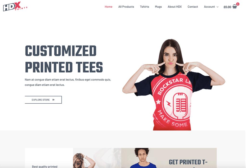 ecommerce print shop