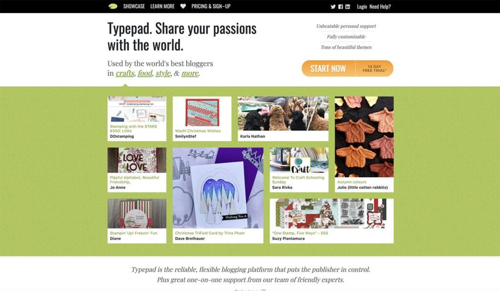 typepad blogging platform free