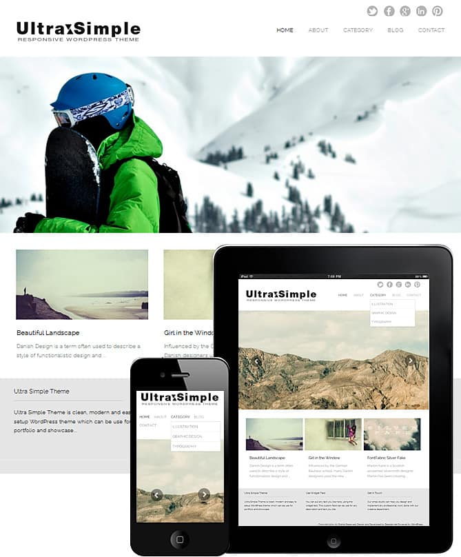 FullScreen Slider Ultra Simple Theme - Best WordPress Themes for ...