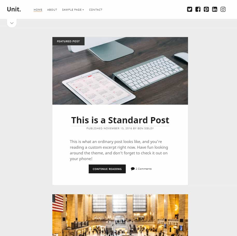 c923d1f1b ... writer looking for grid theme with posts title and description on  homepage great for SEO and optimization. Clean and perfect layout in 3  column design.