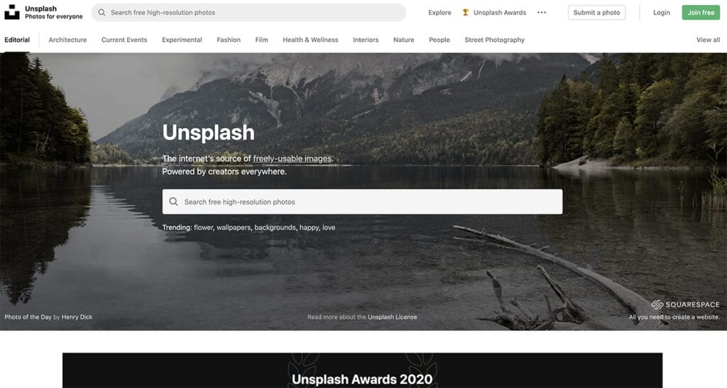 Unsplash - Photos for Everyone