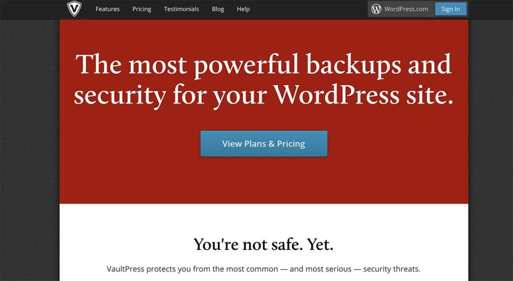 vaultpress premium plugin