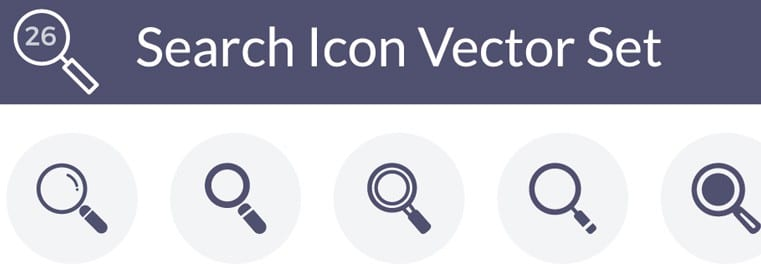 Search Icons Vector Set – Free