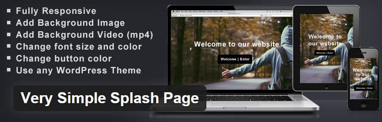 Simple Splash Page Plugin – FREE