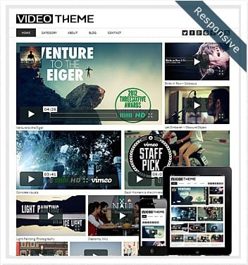 premium wordpress templates - video-theme