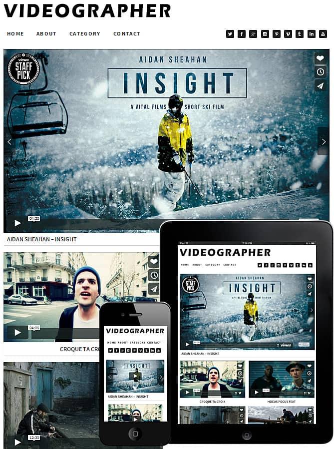 Videographer WordPress Theme Best WordPress Themes For Creatives