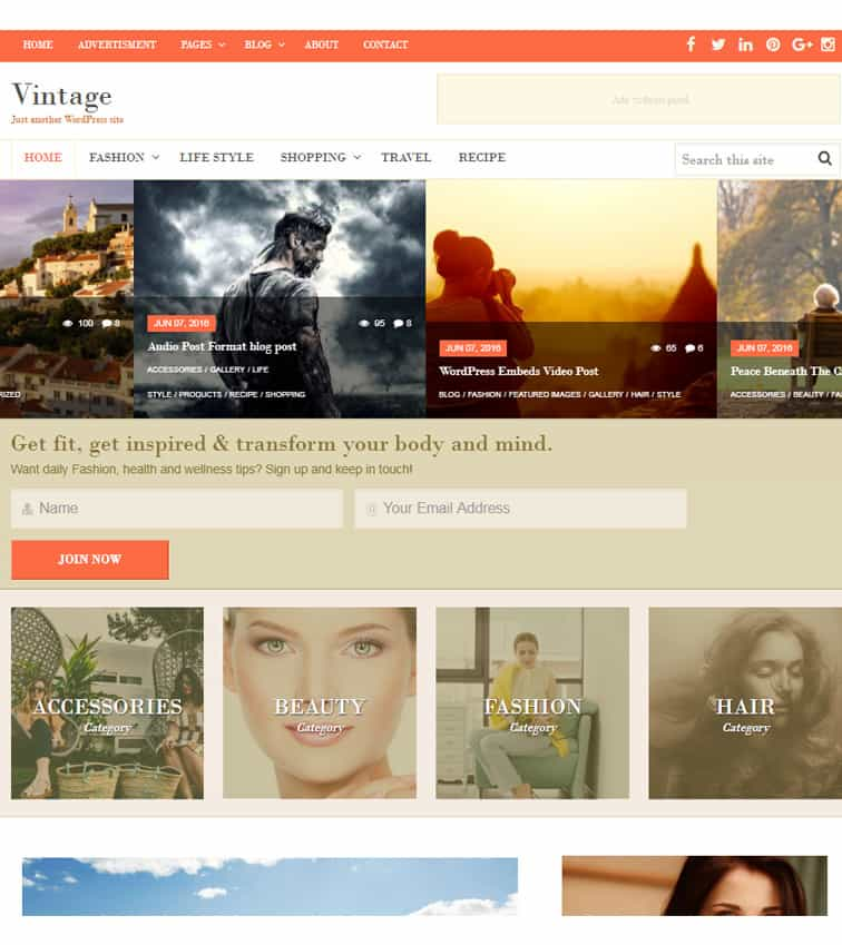 Vintage Theme Best Wordpress Themes For Creatives Dessign Themes
