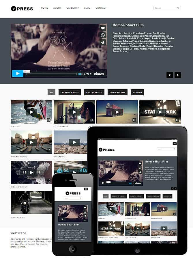VPress WordPress Theme - Best WordPress Themes for Creatives ...