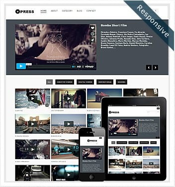 premium wordpress templates - vpress-theme