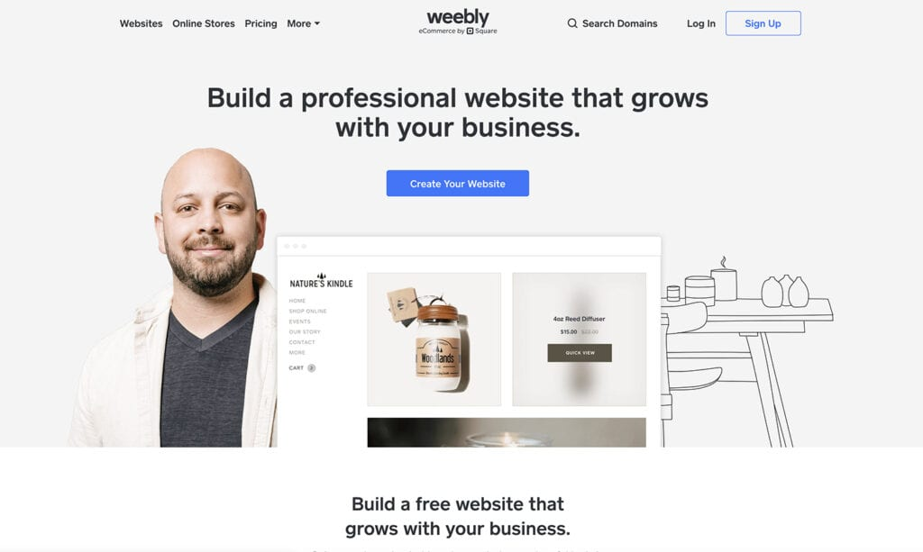 weebly simple to build blog platform