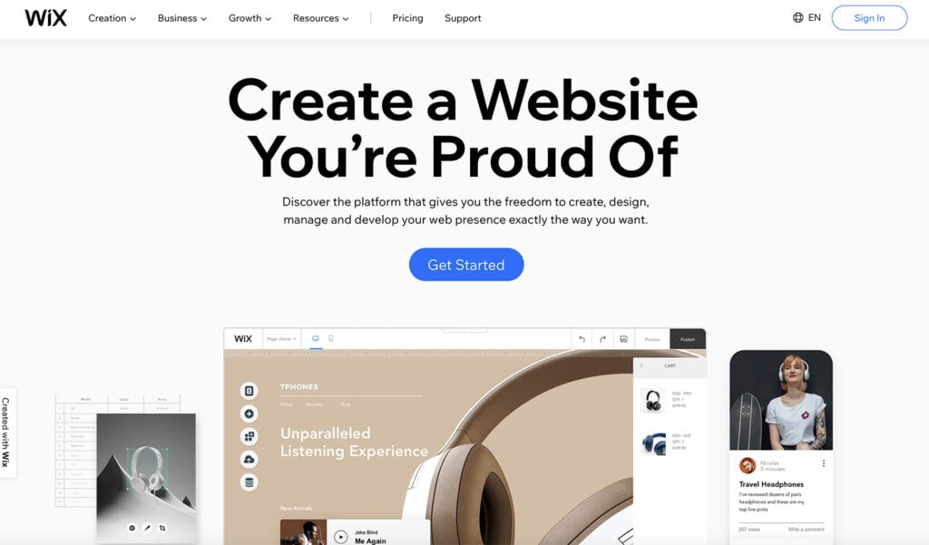 wix build your next blog free