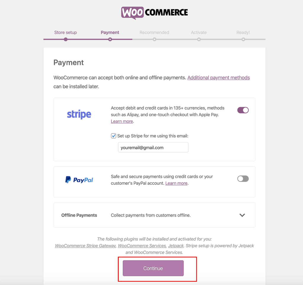 WooCommerce Payment setup pick your payment