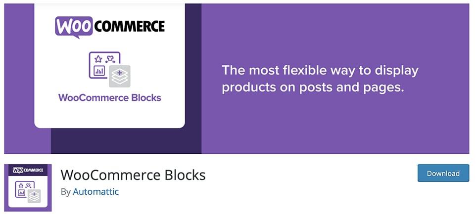 woocommerce blocks free Gutenberg plugin