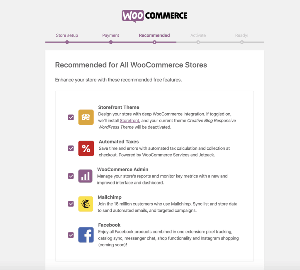 Recommended WooCommerce 2020
