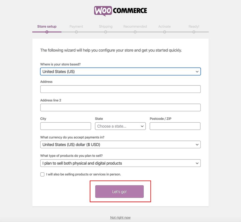 WooCommerce Store Setup 2020