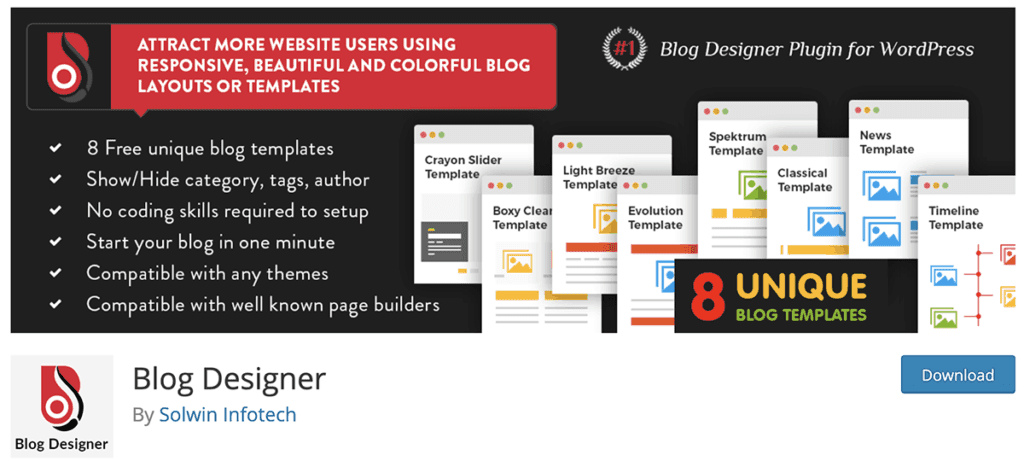 Blog Designer WordPress Plugin 2020