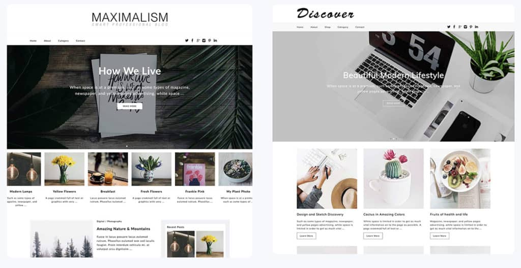 Dessign WordPress Blog themes 2020