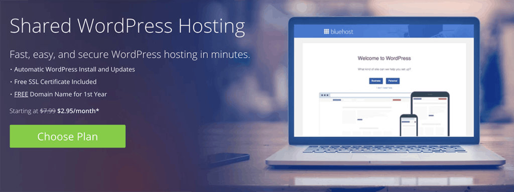 Bluehost Shared WordPress Hosting 2020