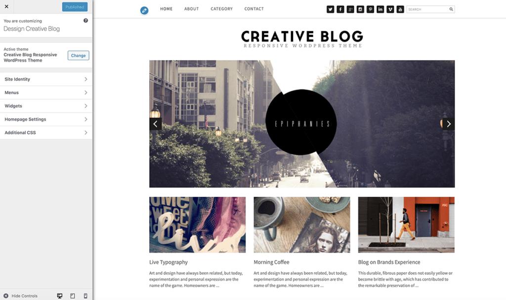 WordPress Customize Blog Theme 2020