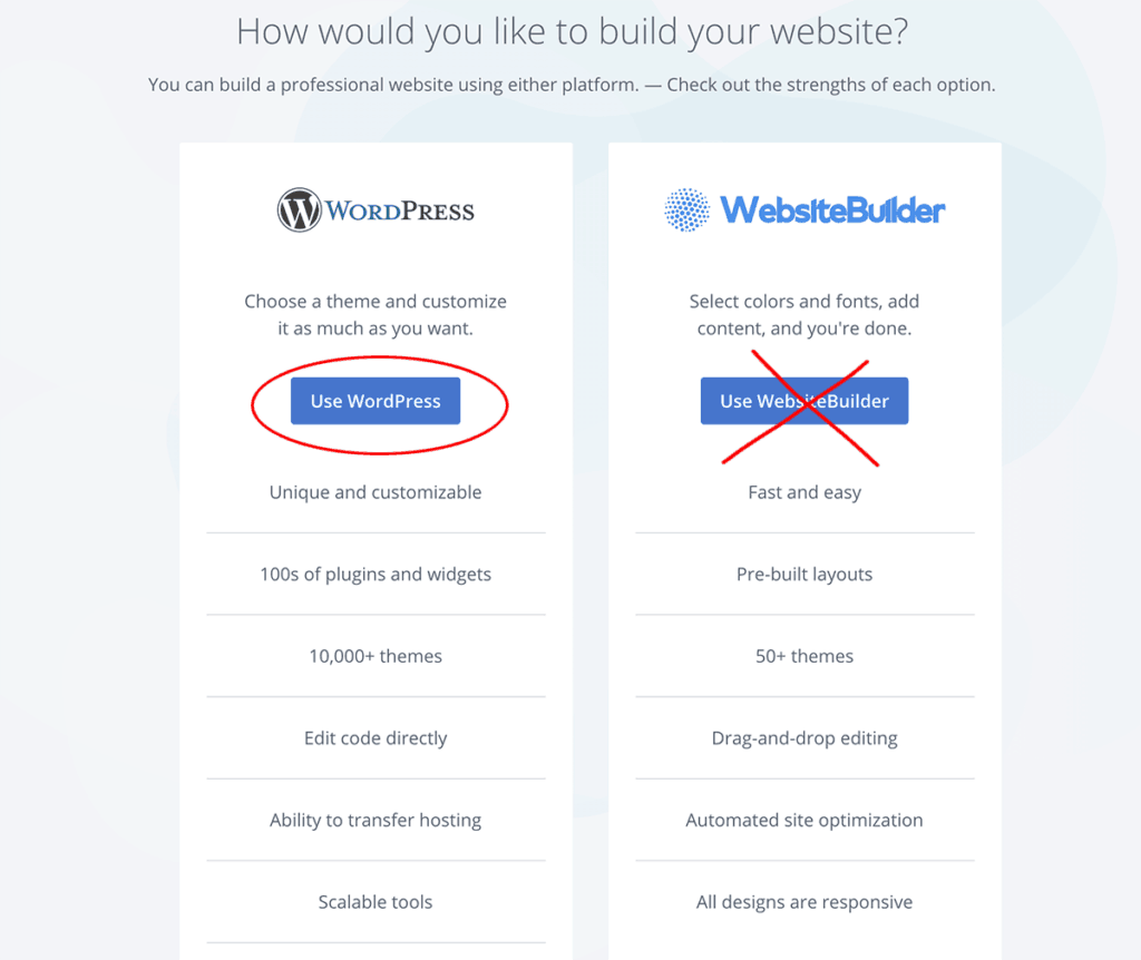 Bluehost WordPress Install 1-click install 2020