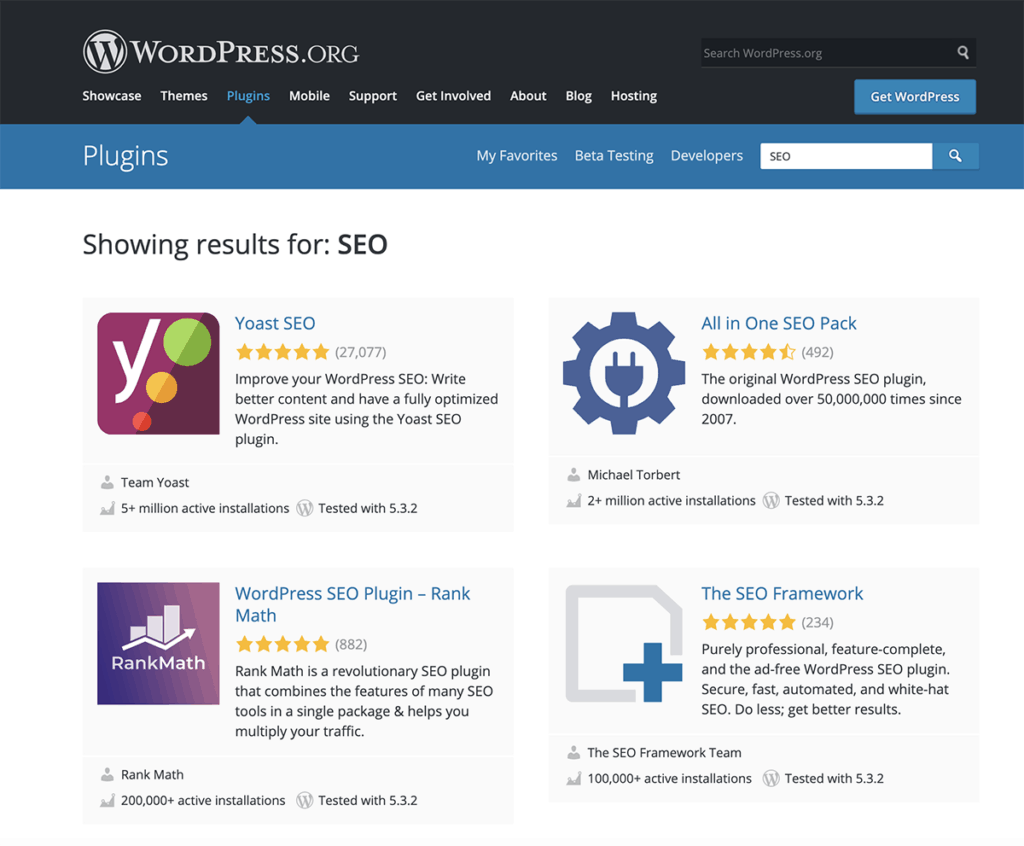 WordPress popular plugins for website 2020
