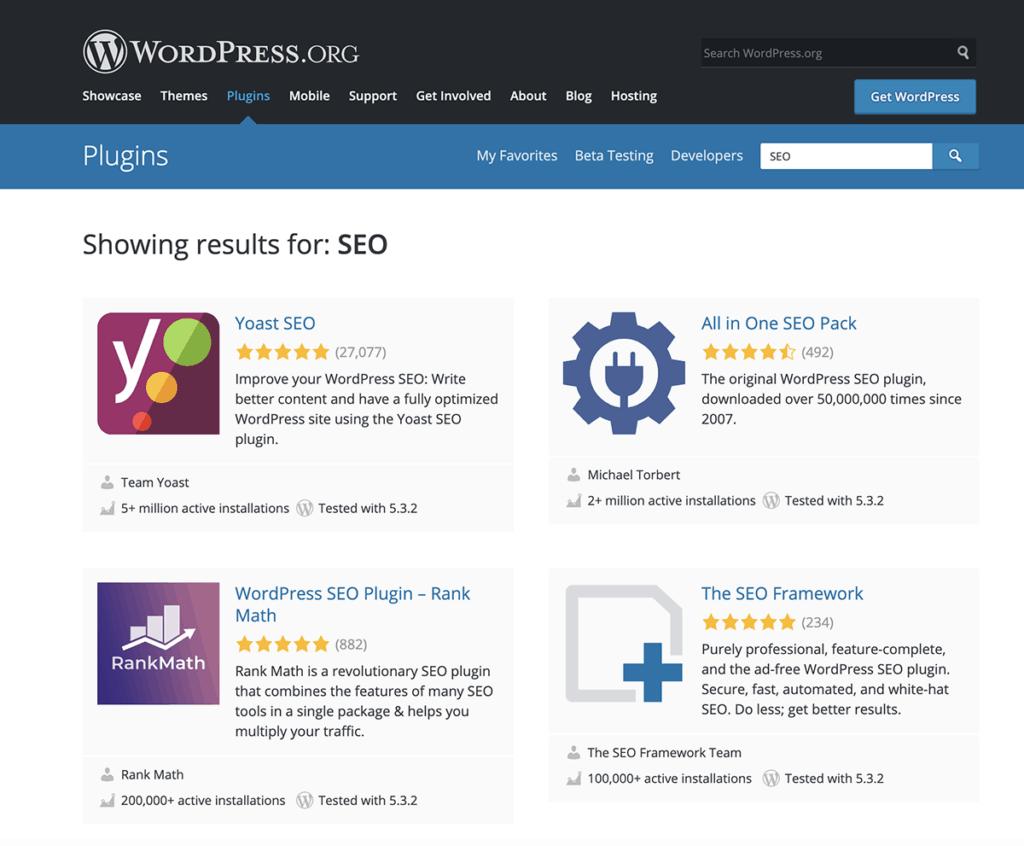 WordPress popular plugins for website 2020