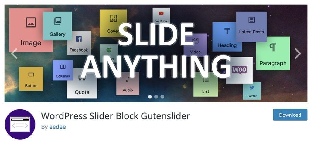 WordPress Slider Block Gutenslider