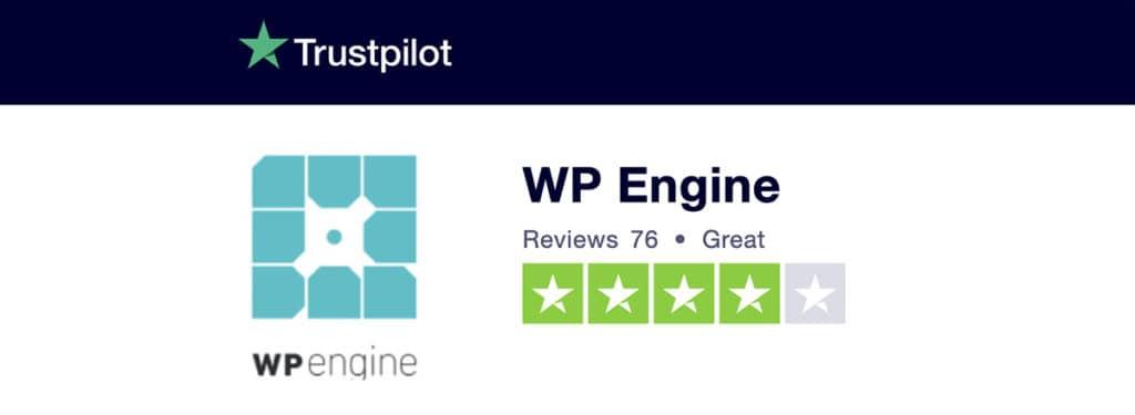 trustpilot wp engine
