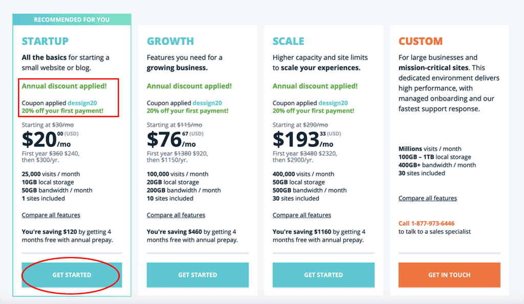 WP Engine Pricing 2020