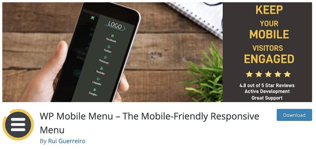 WP Mobile Menu - Le menu réactif adapté aux mobiles