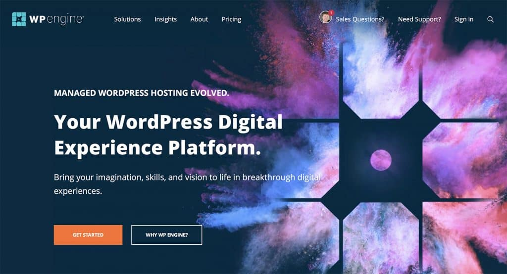 WordPress Hosting WP Engine Colours