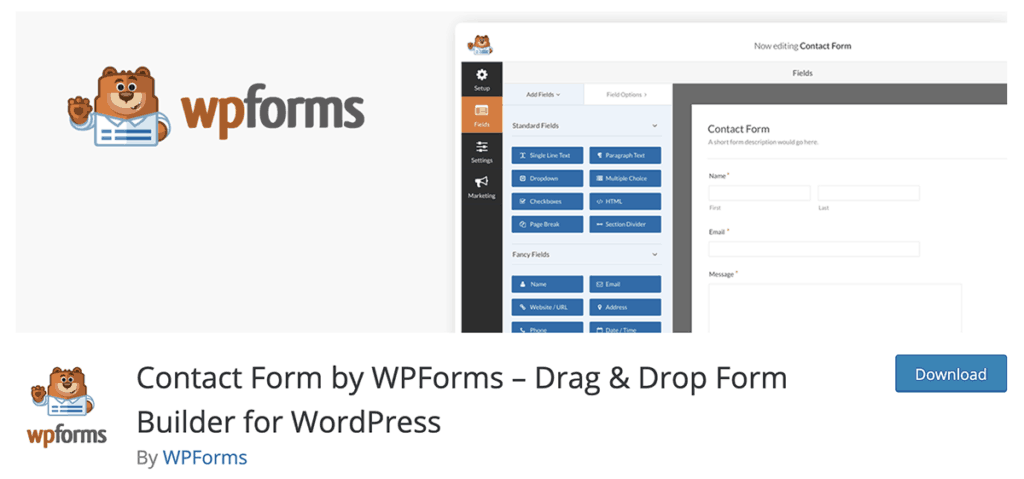 WP Forms - Drag & Drop Form Builder for WordPress