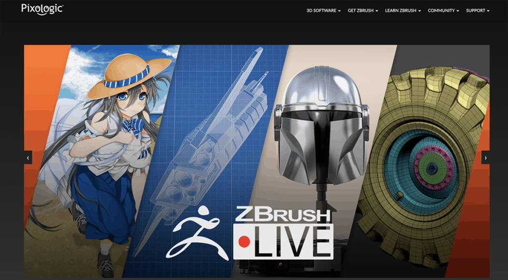 ZBrush 3d software
